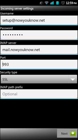 Mail setup image 1