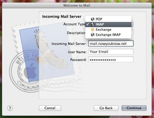 Mail setup image 2