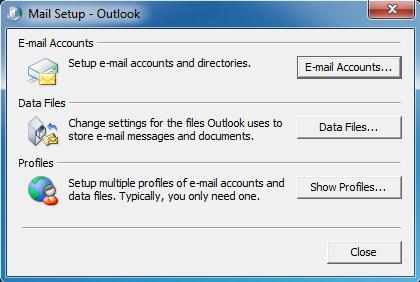 Outlook setup image 1