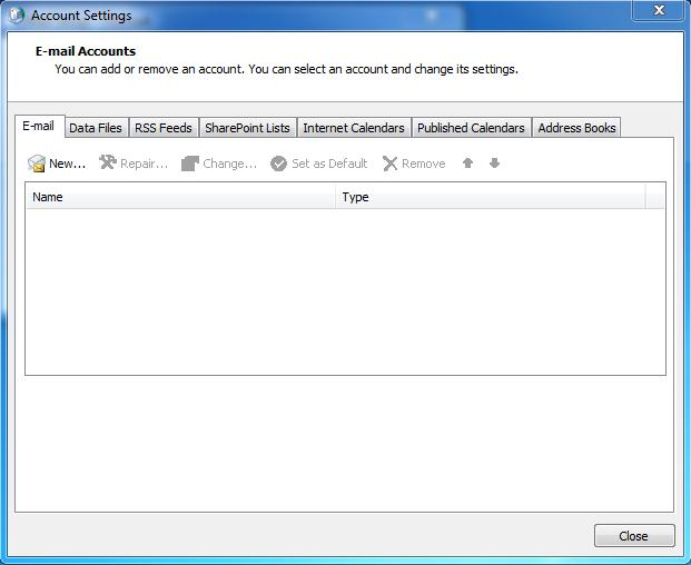 Outlook setup image 2
